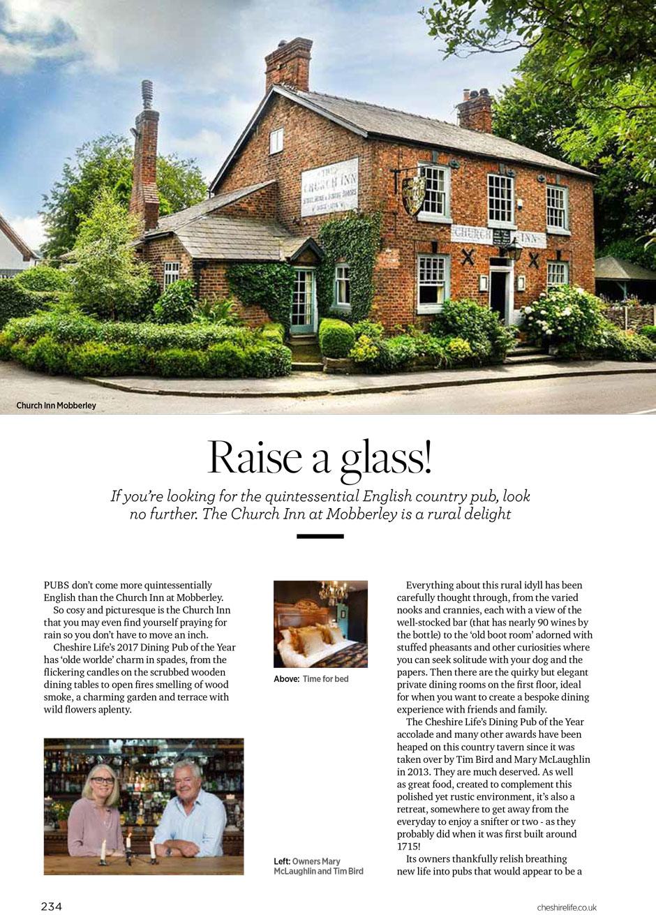 Reviews | The Church Inn of mobberley